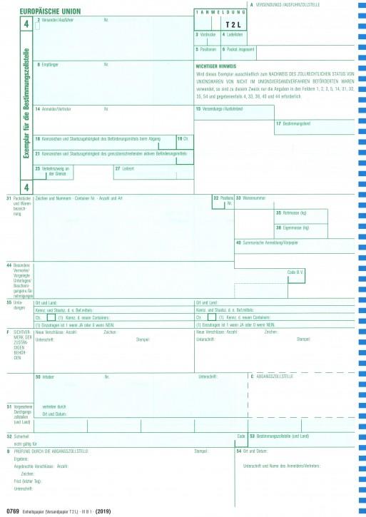 Einheitspapier - Versandpapier COM T 2 L bzw. -Artikel 41- 1-fach, Blatt 4 für Laserdrucker, (0769), VPE 100 Stück