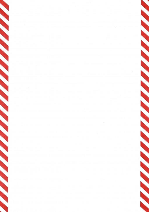 Formulare mit rot schraffiertem Rand (links und rechts) , Sonderanfertigung Format DIN A 4 (12367), VPE 100 Stück
