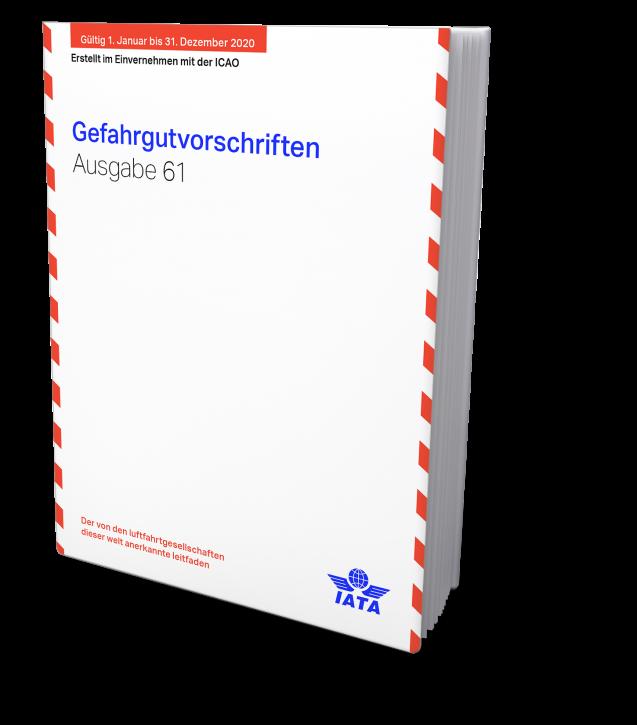 IATA 2020 Gefahrgutvorschriften, Buchausgabe deutsch, 61. Auflage