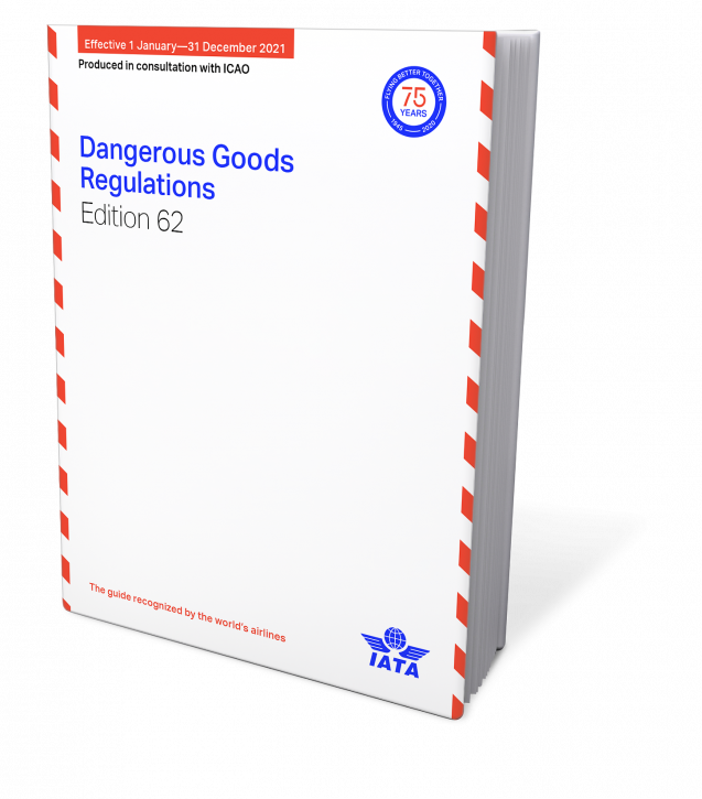 IATA 2021 Dangerous Goods Regulations, 62nd Edition, Buchausgabe englisch