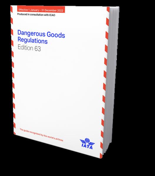 IATA 2022 Dangerous Goods Regulations, 63nd Edition, Buchausgabe englisch- Verfügbar ab Ende September.