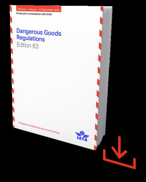 Web-Download IATA 2022 Dangerous Goods Regulations, 63nd Edition, englische Ausgabe - Verfügbar ab Ende August.