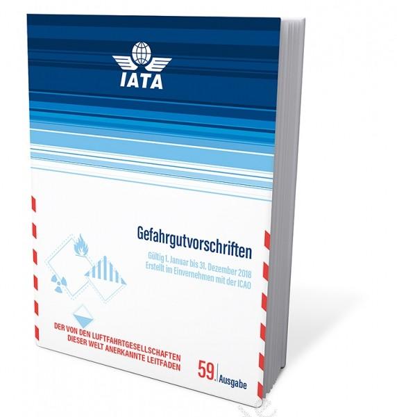 IATA Gefahrgutvorschriften, Buchausgabe deutsch 2018, 59. Auflage