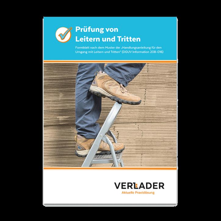 """VERLADER – Abreißblock """"Prüfung von Leitern und Tritten"""""""