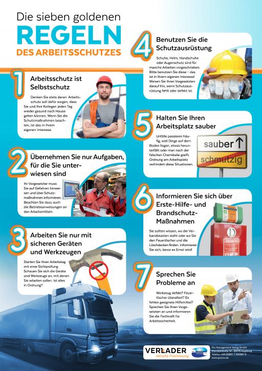 """VERLADER – """"Die sieben goldenen Regeln des Arbeitsschutzes"""""""