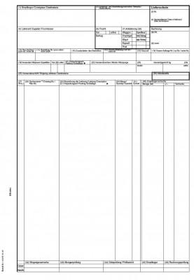 Endlos-Lieferschein DIN 4994 5fach, selbstdurchschreibend, 24 cm x 12 Zoll, VPE 500